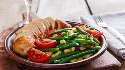 Healthy Orange Chicken and Green Beans