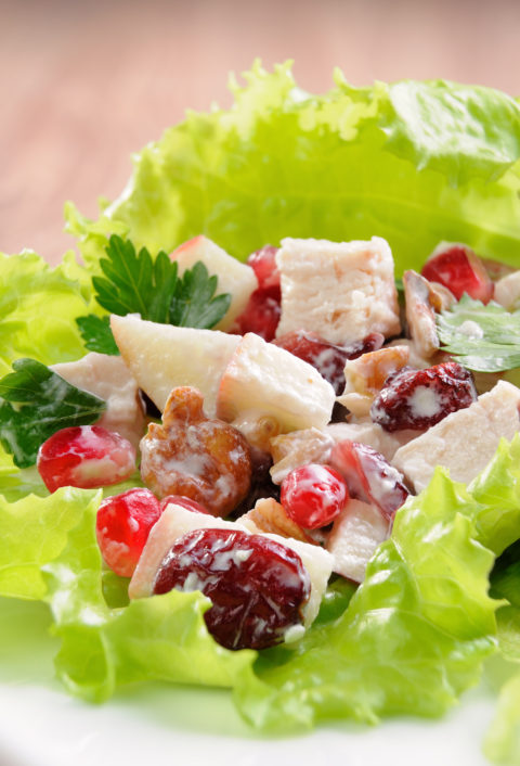 Cranberry Chicken Salad for Protein and Fiber