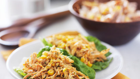 Slow Cooker Healthy Chicken Tacos