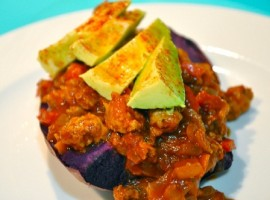 Beanless Chili Loaded Sweet Potato
