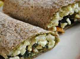 Spinach and Egg White Wrap