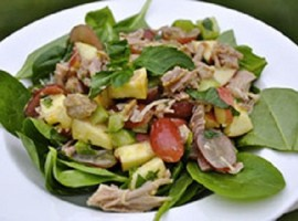 recipe – turkey spinach salad