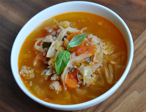 Comfort Soup with Sausage and Cabbage