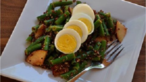 Green Beans, Egg and Quinoa Salad
