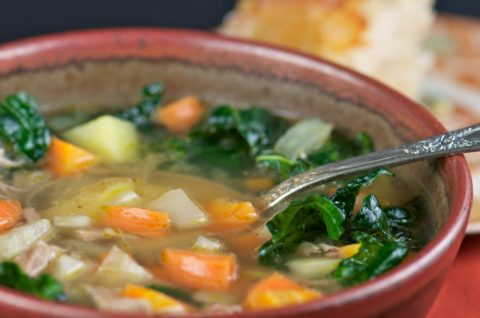Slow Cooker Turkey and Kale Soup