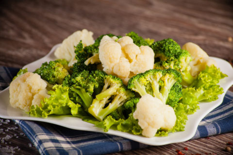 Easy Roasted Broccoli and Cauliflower